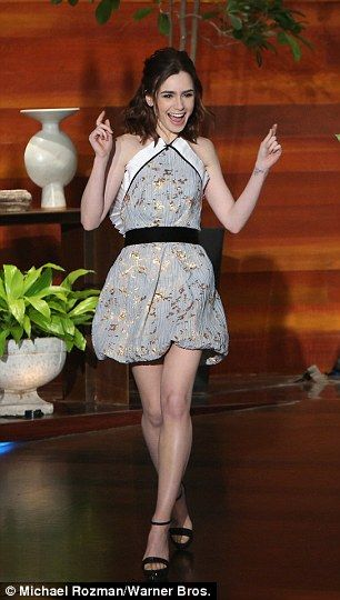 Lily Collins gushes over Golden Globe nod against Meryl Streep #dailymail