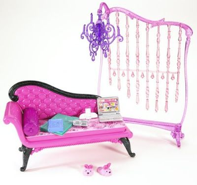 Barbie My House Basic Furniture   Barbie Glam Daybed. Set Has Real Life  Accents. Fits Inside The Barbie My House Modular.