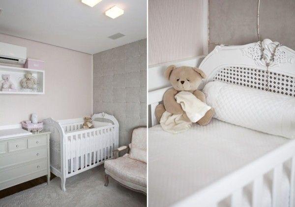 Quarto de bebê menina rosa e cinza Quartos and Bebe ~ Quarto Rosa Para Bebe