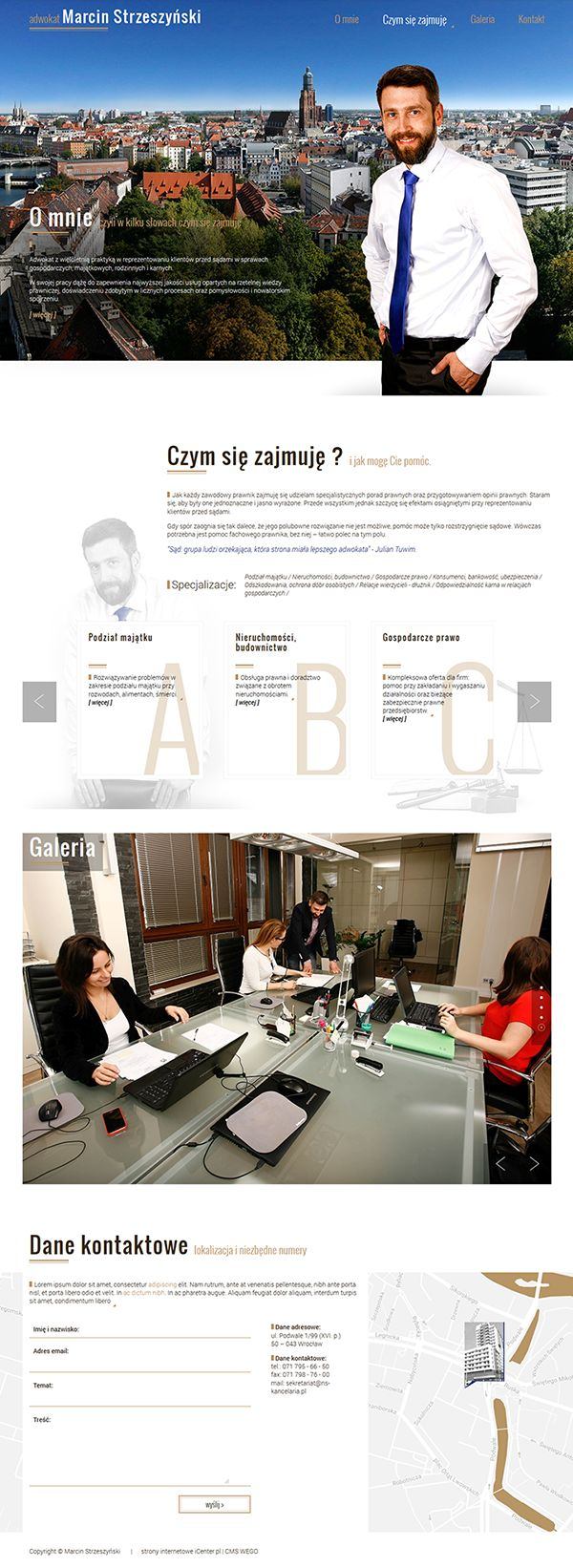 Strony internetowe - adwokat Strzeszyński