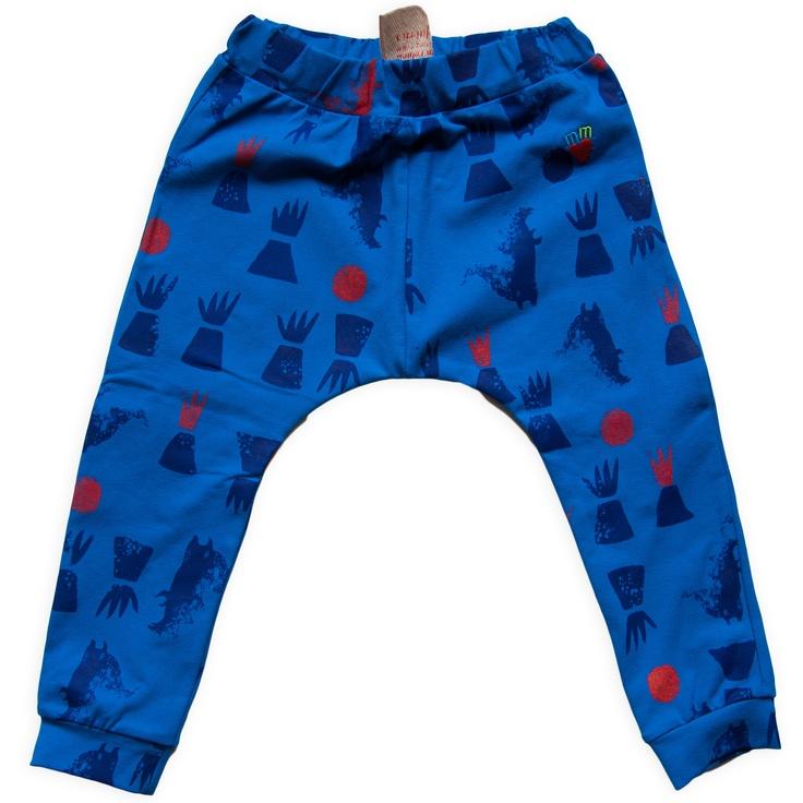 blauwe legging met vulkanen miszkomaszko www.kidsfinest.nl