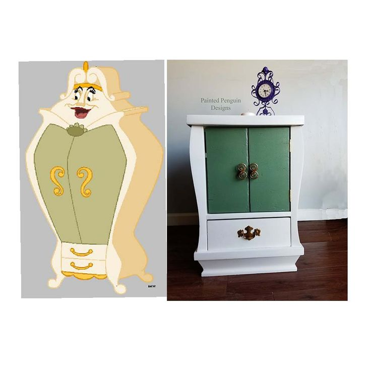 Check out this Beauty and the Beast Bedside Table created by Painted Penguin Designs!  Check out her Facebook page Painted Penguin Designs to see more!