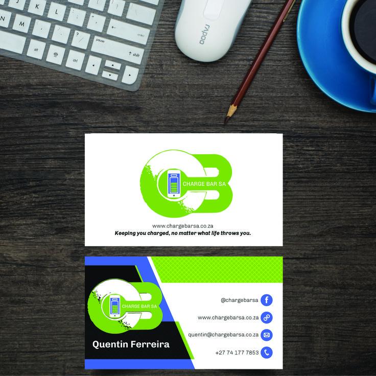#BusinessCard #Design #Print for Charge Bar SA