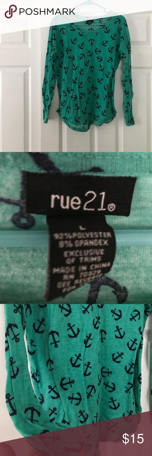 Rue 21 Nautical Top Fierce. Classy. Chic. This Rue 21 Top is a gorgeous addition to any wardrobe. Like new condition. Rue 21 Tops