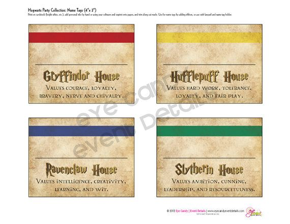 Harry Potter Inspired  Hogwarts PRINTABLE Party by EyeCandyCreate