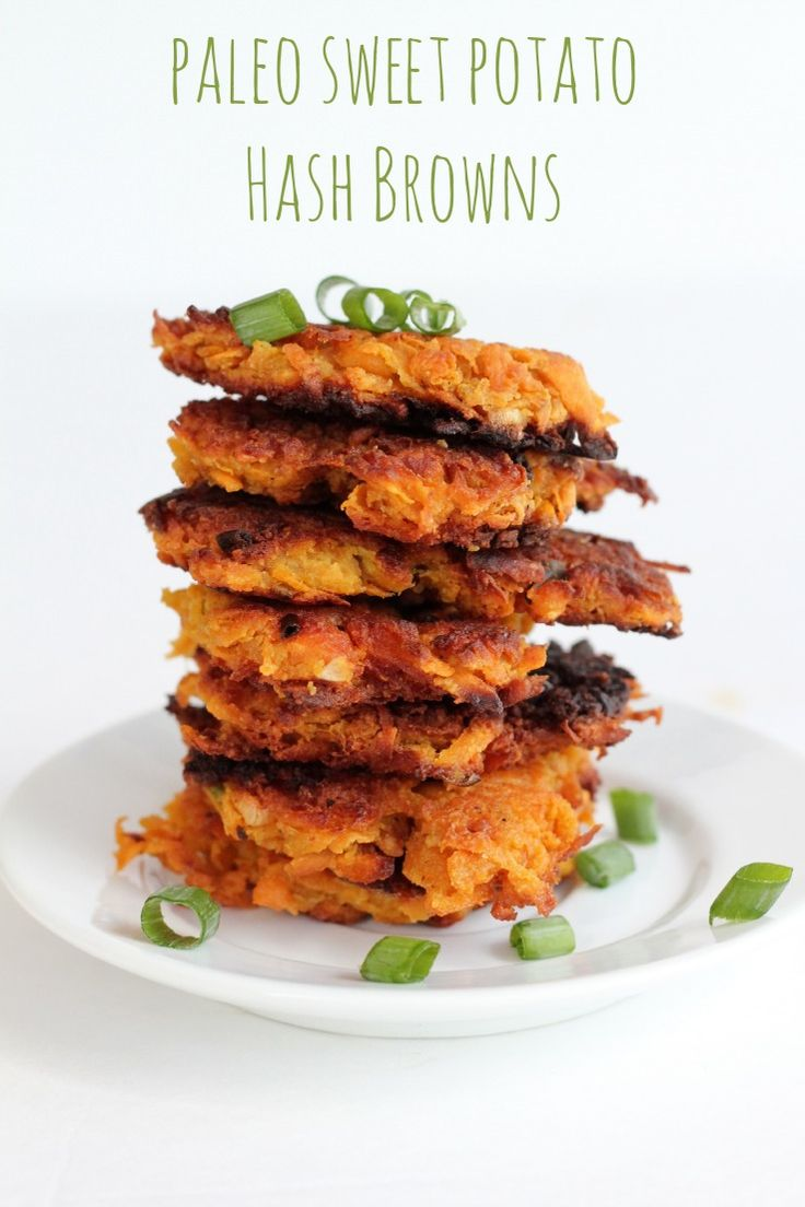 The best way to make Paleo Sweet Potato Hash Browns! These are awesome for breakfast or as a fancy appetizer with a dip!