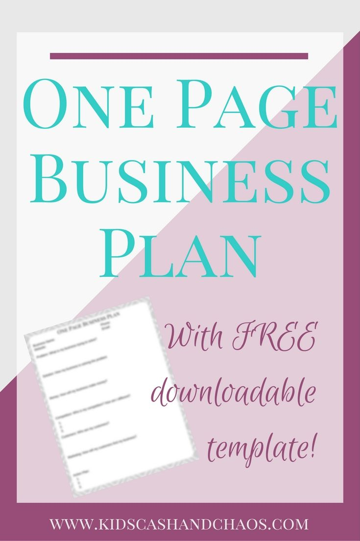 the one page business plan for the creative entrepreneur pdf