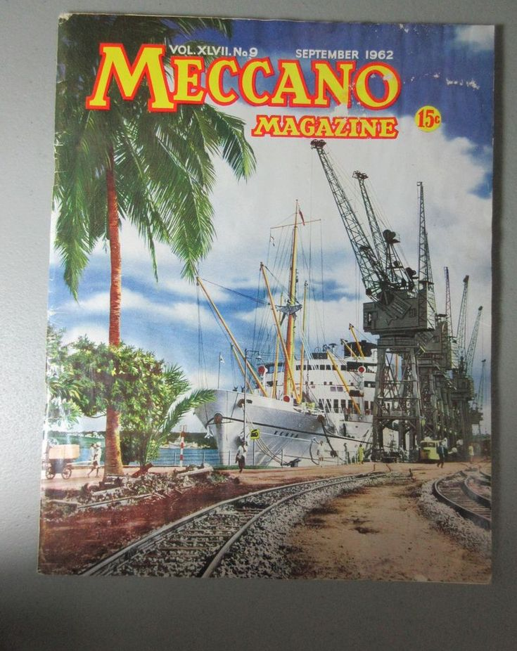 Meccano vtg magazine #9  Sept 1962 Giant Hammerhead Crane model instructions  | eBay