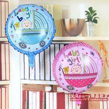 P1082 45 cm bebé de la historieta del coche foil fiesta de cumpleaños de globos decoración globo globo niños clásicos juguetes llenos de aire suministros(China (Mainland))