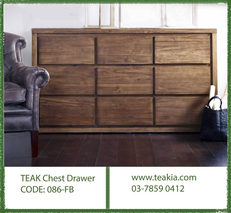 https://flic.kr/p/ZJTczs | 23847440_1707009559311937_171686537297538895_o | Teak wood chest of drawers made from plantation teak wood, it perfectly suits your dining,living and bedroom, it has 9 spacious drawers to store everything whatever you want to hide from your living space....For further info call us at 03-78590412 or mail us at info@teakia.com