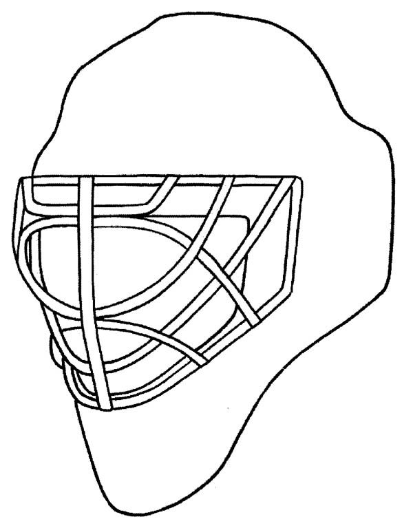 Hockey Mask Coloring Pages