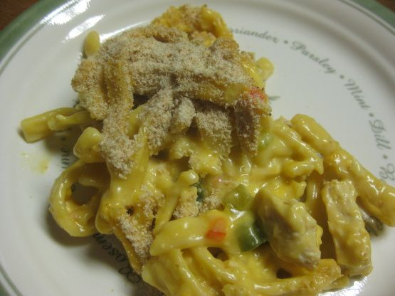 This recipe came from a bag of Pennsylvania Dutch Homestyle Noodles many years ago.  The pimiento absolutely makes this recipe, so dont leave it out.  Make a trip to the store and get them, theyre near the olives and pickles.