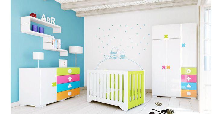 Colección MATHS Alondra. Habitaciones de bebés de colores divertidos, multicolor. ¡Un espacio único para tu bebé y tu!
