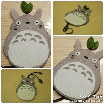 felt Totoro key case