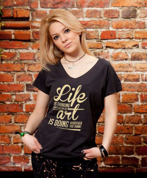 Inspirational tshirt womens v-neck tshirt unique v by store365