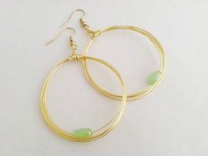 Wire Loop Earrings  www.baitbykiya.com