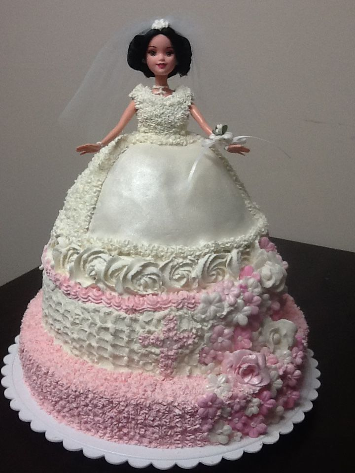First Holy Communion Tiered Doll Cake Wedding Dress Cake