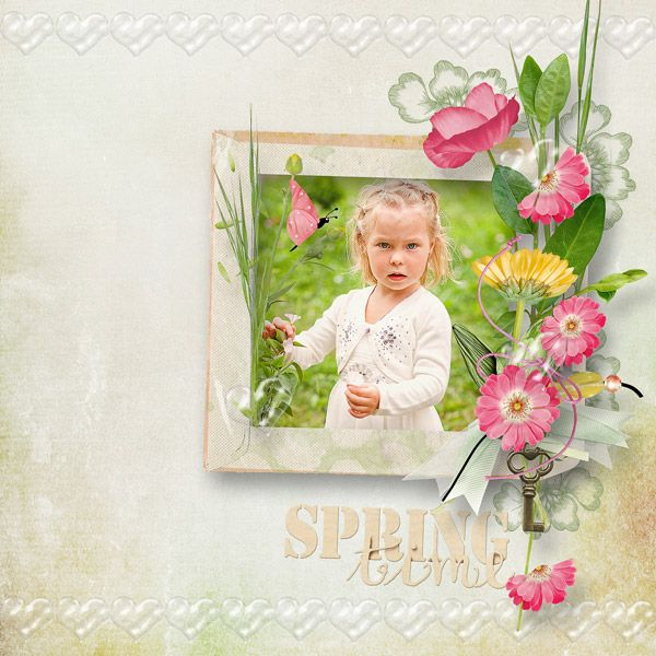 """RE-RELEASE  """"Spring Kiss"""" Collection by Palvinka Designs   http://www.thedigichick.com/shop/Spring-Kiss-Collection.html  save 52%  photo Anastasia Serdyukova use with permission"""