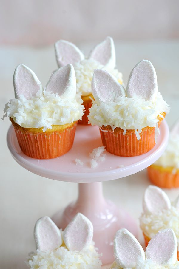 Easter Bunny Coconut Cupcakes