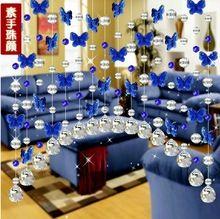 Украшения дома бесплатная доставка 5 строки бабочек и кристалл из бисера шторы для гостиной(China (Mainland))