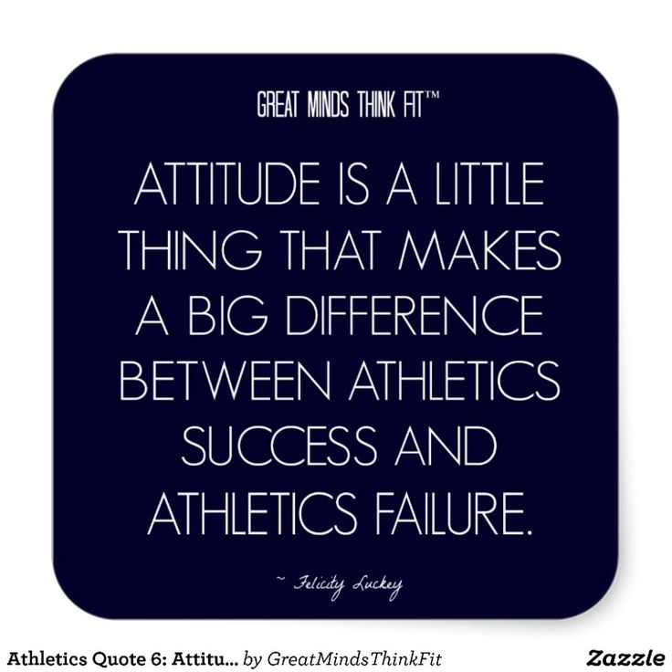 #Athletics #Quote 6: Attitude for Success #Sticker