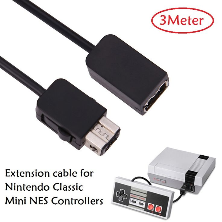 3m 10ft Game Controller Extension Cable wire for Wii/ Mini NES Nintendo Classic controller extension cable cord