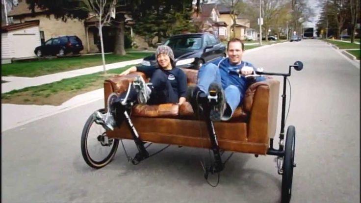 Couchbike and Treadmill Bike on World's Strangest Vehicles.