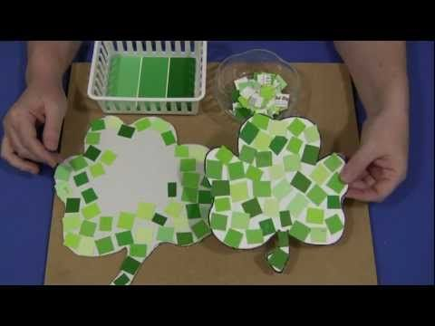 Paint Chip Shamrocks: Pattern, Fine Motor
