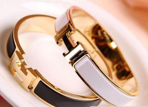 replica hermes kelly - Hermes Inspired Bangle,Hermes inspired enamel bangle ,H calsp ...