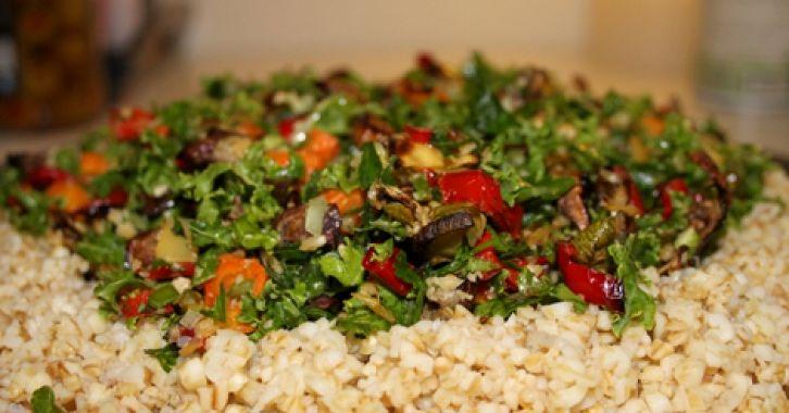Πλιγούρι και ψητά λαχανικά