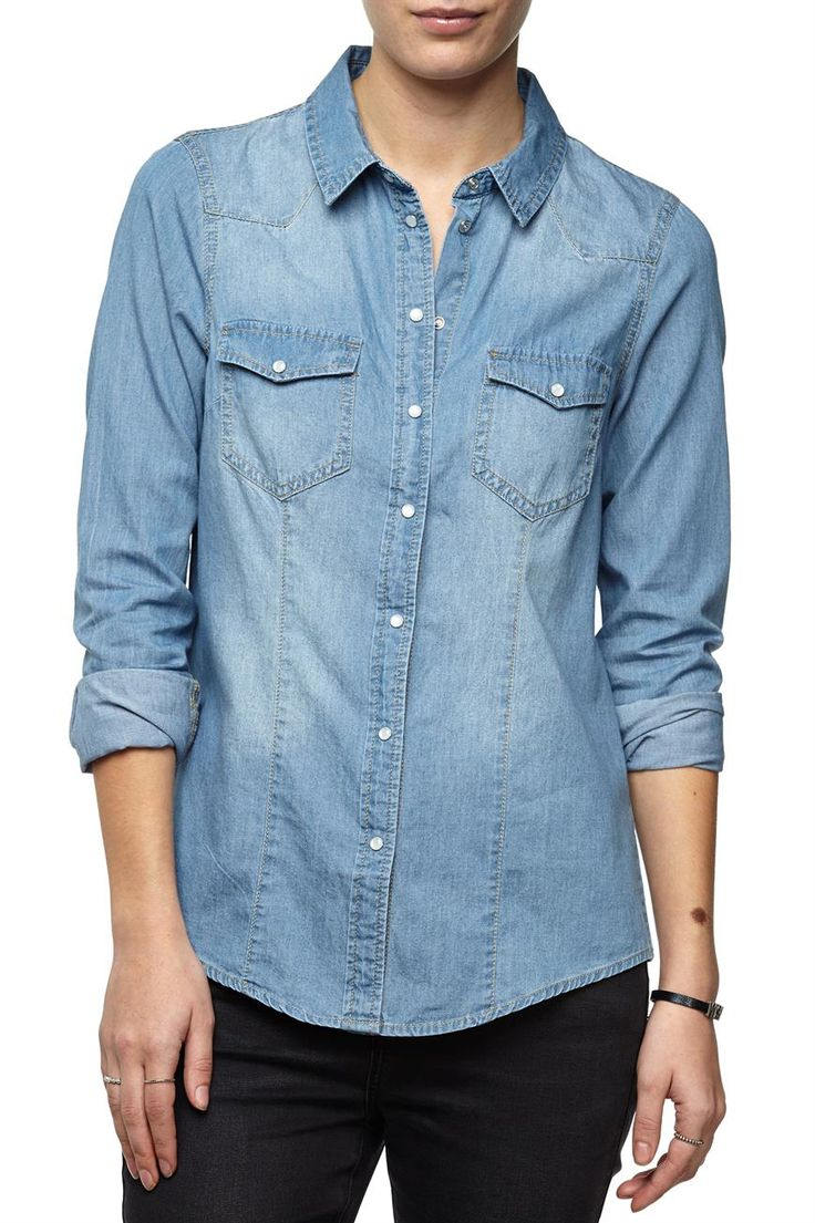 the fitted denim shirt