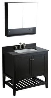 "33"" Bosconi SB-250 Vanity Set - contemporary - bathroom vanities and sink consoles - by Bosconi Wholesale Bathroom Vanities"