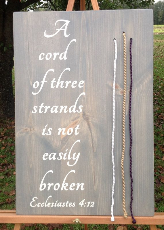 A cord of three strands unity colored cordwedding by TheGrayDazey