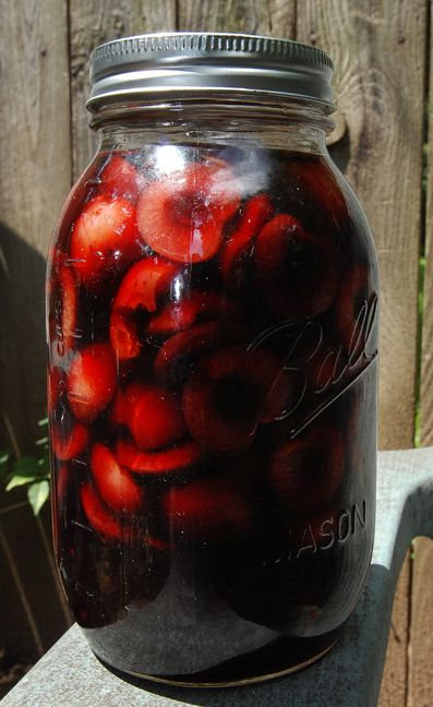 Bourbon Soaked Cherries ~ Liquor soaked cherries packed in homemade ...