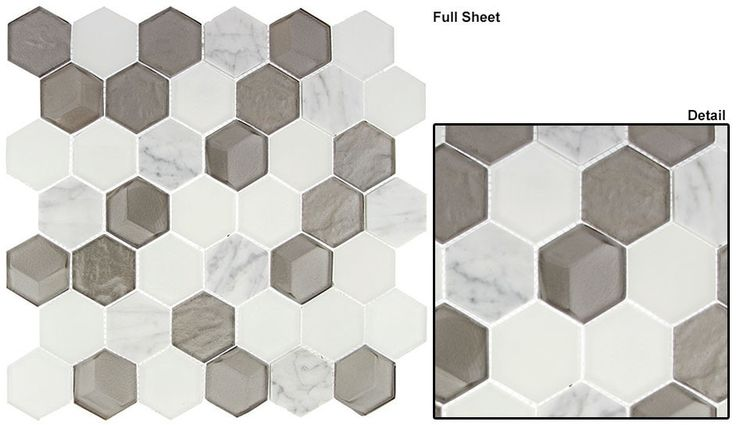 Glazzio Tiles Queen's Lair Glass and Marble Mosaic Series