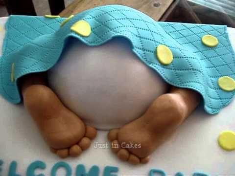 Baby Bottom Cake Tutorial for Baby Showers - YouTube