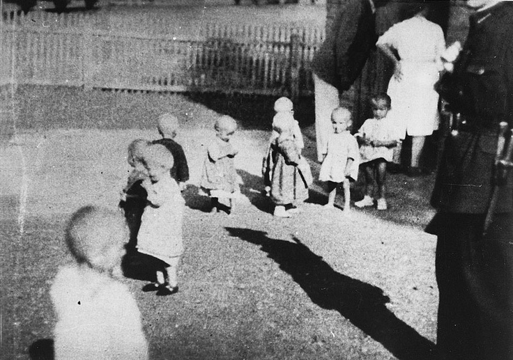 The first transport of children arrived at the railway station at Sisak on 3 August 1942