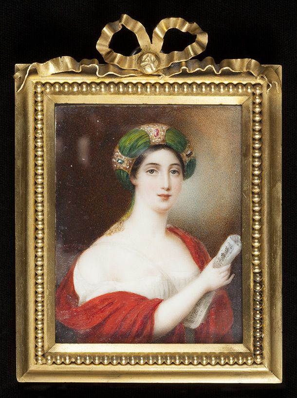 Giuditta Pasta as Norma, painting, Maxim Gauci, ca. 1831, Europe. Watercolour on ivory