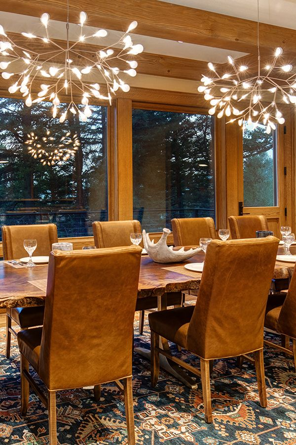An Elegant Dining Room In This Mountain Modern Ski Lodge