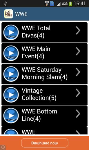 Have you missed your favorite World Wrestling Entertainment (WWE) specific episode and wanted to watch it only when you are free, don't worry we got it for you.<br>This app lets you watch all major WWE video and Super Star on your Mobiles and Tablets and especially when you want to watch it. This lets you carry a handy TV in your pocket for watching daily shows. <br>App Features<br>--Over 50 WWE superstar WWE Video.<br>-- You can Enjoy your video in hd quality.<br>-- If a WWE has multiple…