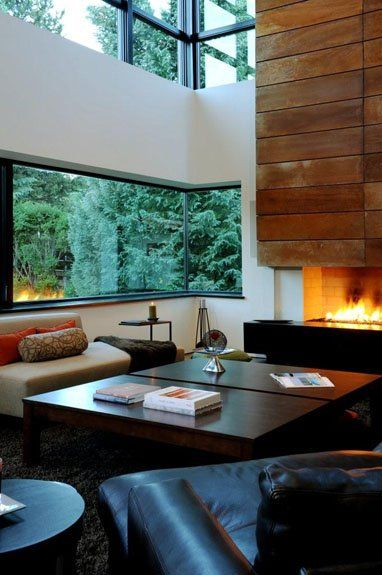 Lounge at Mountain View Residence, Aspen by Cottle Carr Yaw Architects LTD