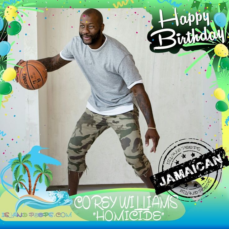 """Happy Birthday Corey """"Homicide"""" Williams!!! Pro Basketball Player & StreetBall Legend born of Jamaican descent!!! Today we celebrate you!!! @thepatientwolf.nyc #CoreyHomicideWilliams #islandpeeps #islandpeepsbirthdays #patientwolf #homicide #citizenoftheworld #summerofhomicide #streetballlegend"""