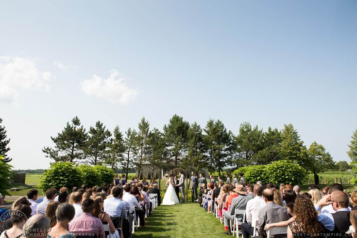 Rockway Vineyards Wedding, Niagara - Wedding vows #sweetheartempirephotography