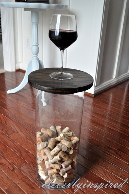 Super large vase becomes a table - Cleverly Inspired