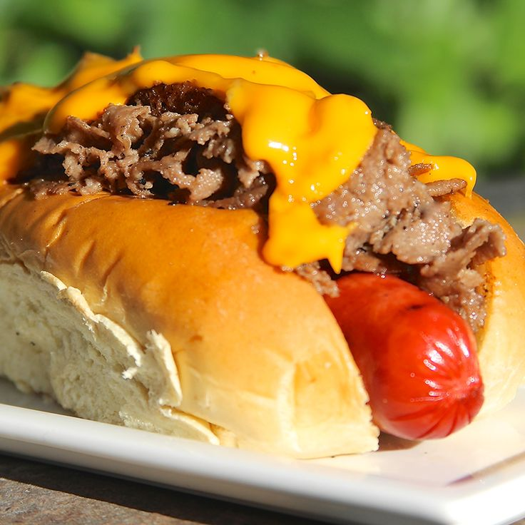 Philly Cheesesteak Dog | BBQ Charcoal for Grilling Meat | Kingsford