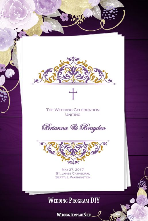 Catholic Wedding Order Of Service Template
