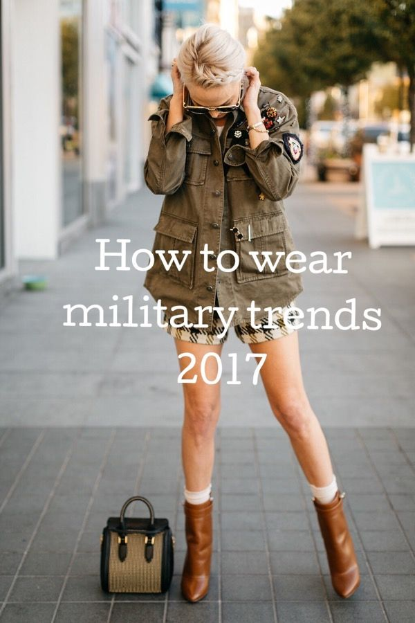 Military trends fashion style