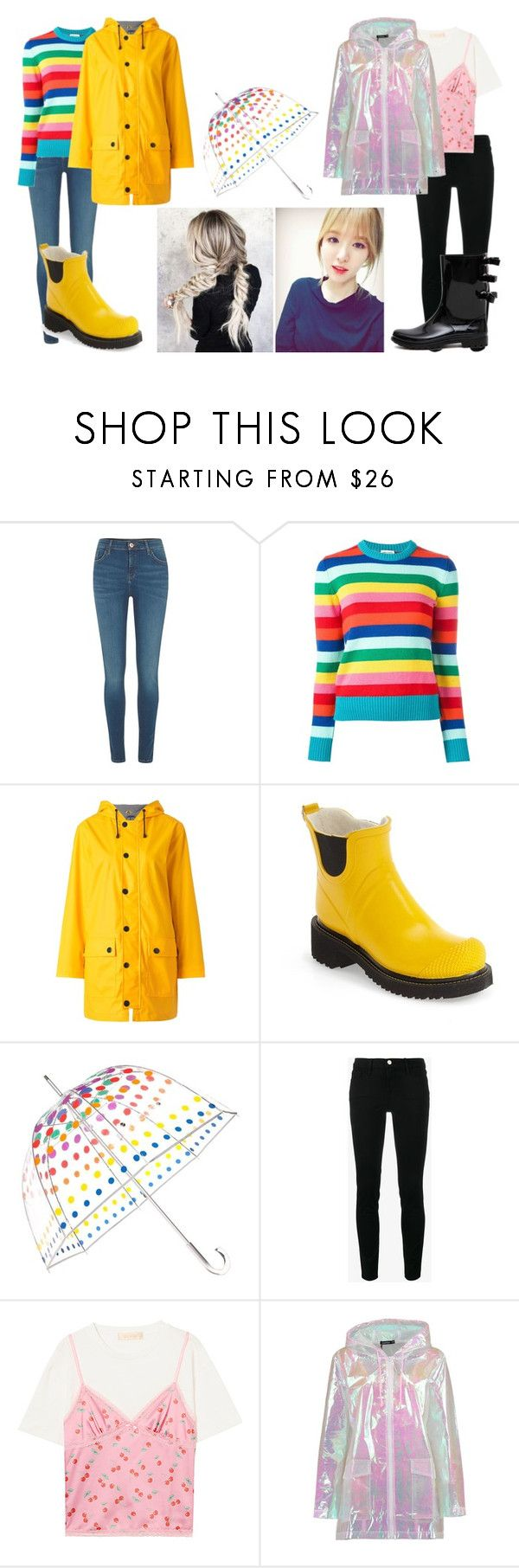 """""""Wanda; dancing in the rain"""" by dovelywoozi ❤ liked on Polyvore featuring River Island, Yves Saint Laurent, Petit Bateau, Ilse Jacobsen Hornbaek, Totes, Frame, Boohoo and RED Valentino"""