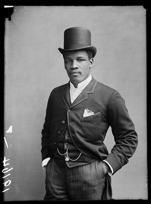 Black people photographed in Britain | Peter Jackson, 2 December 1889. Born in 1860 in St Croix, then the Danish West Indies, Jackson was a boxing champion who spent long periods of time touring Europe. In England, he staged the famous fight against Jem Smith at the Pelican Club in 1889. In 1888 he claimed the title of Australian heavyweight champion. Photograph: Hulton Archive/Getty Images