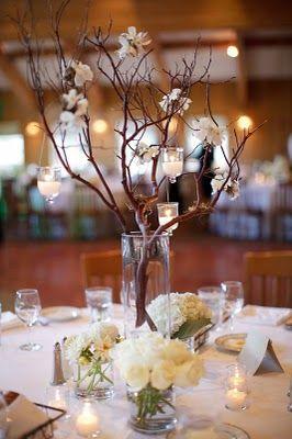 branches in vase